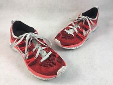 Nike Women's Flyknit Lunar 1 Bright Crimson Running Shoes sz 5 # 554888-611
