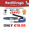 Red Dingo Patterned Dog Collar and Lead Sets from Petmerize - Small