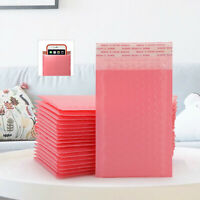 200X Pink Poly Bubble Bag Mailer Plastic Padded Envelope Shipping Bags Packaging