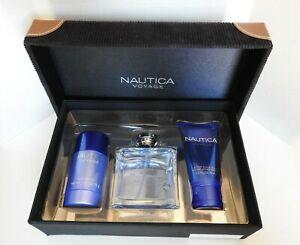 Voyage By Nautica Eau de Toilette Spray For Men 3.4 oz + After Shave + Deodorant