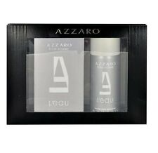 AZZARO POUR HOMME LEAU 3.4 oz EDT Spray Men Cologne+ 5.1 deodorant Gift Set NIB