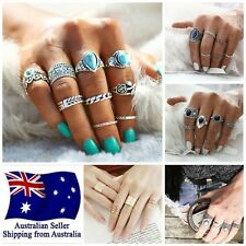 HOT Women's Boho Surf Urban Midi Rings Set Stack Above Knuckle Jewelry