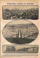 Salonique Thessaloniki Grèce Greece Musique Militaire Française  WWI 1916