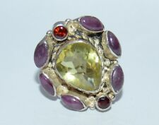 Vintage Silver ring 925 Size  8 3/4