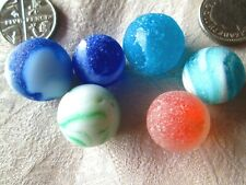 GENUINE NORTH EAST ENGLISH SEA GLASS/ 6 CLASSIC BEACH MARBLES (NO CHIPS)