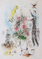 CHAGALL - LES LILAS - ORIGINAL LITHOGRAPH - 1981 - FREE SHIPPING IN THE US  !!!