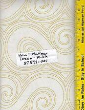 "108"" Wide Quilt Backing BTY, 100% Cotton, ROBERT KAUFMAN DRAWN  PICKLE 57591-001"
