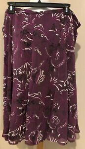 SAG HARBOR WOMAN Womens Purple A Line Skirt - Sz 20W 20 W 1X