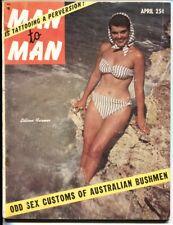 Man To Man 4/1955-Movie Stars slapping women-Tattooing-Bill Wenzel