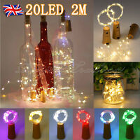 UK 20 LED Cork Shape Starry Night Light Wine Bottle Lamp Valentine's Wedding OEM