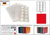 1 x LOOK 1-7391-R Münzhüllen PREMIUM 15 Fächer Für Münzen bis 44 mm + rote ZWL
