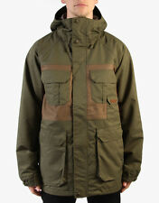 Burton Frontier Winter Jacket Hooded Waterproof Full Zip Green Mens Size S NEW!