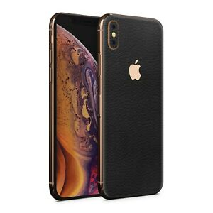 For Apple IPhone 7 8 X XR Xs Plus 11 Pro Max Black Leather Skin Wrap Case 10X