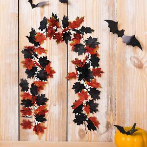 Artificial Maple Leaf Shape Vine Fake Foliage Hanging Leaf Garland Party Decor