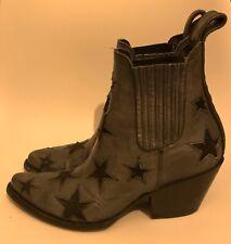 ❤️ MEXICANA Ankle Boots Gr 37 38 Leder Schuhe Damen Grau Sterne