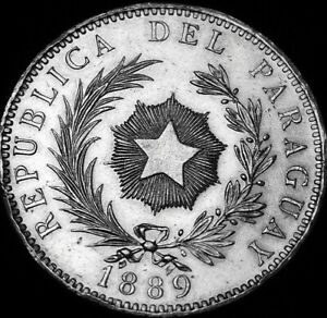 1889 One Peso Paraguay Excellent Grade A47-409