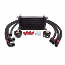 19 ROW BLACK HIGH PERFORMANCE RACING ENGINE OIL COOLER & FILTER RELOCATION KIT