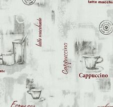 EASY WALL CAPPUCCINO SILVER/RED KITCHEN WALLPAPER