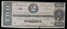 February 1864 Confederate States of America Csa $2 T-70