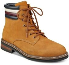 """Tommy Hilfiger Halle MEN'S BOOTS 6"""" Tan LEATHER Lace Up BOOTS Size 10 M -New-"""