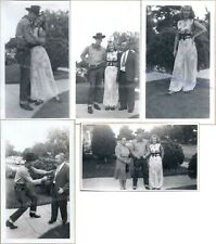1930s Couple Wearing Halloween Cowboy Outlaw Genie Harem Girl Costumes Photos