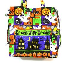 Halloween Handmade Tote bag ~ 100% Cotton Prewashed ~ Quilt Fabric   # A