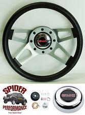 "1980-1987 Suburban Jimmy GMC pickup steering wheel 13 1/2"" Silver 4 Spoke Grant"