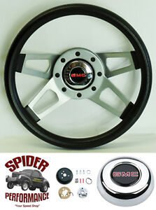 """1988-1994 Suburban Jimmy GMC pickup steering wheel 13 1/2"""" Silver 4 Spoke"""