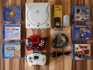 Sega Dreamcast Konsole - Set inkl. 6x Spiele