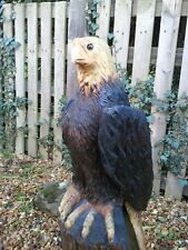 Eagle Chainsaw Carving Sculpture Wood Wooden Garden Ornament