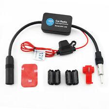 Signal Amplifier Booster Stereo Radio Inline Antenna Aerial AM/FM Aerial Car