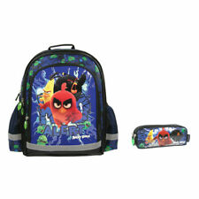 Angry Birds MOVIE Backpack School Bag with Double Pencil Pouch
