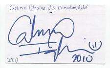 Gabriel Iglesias Signed 3x5 Index Card Autographed Signature Actor Comedian