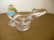 Princess House Fine French Crystal Bird Shape Glass Candy Nut Dish Bowl. France