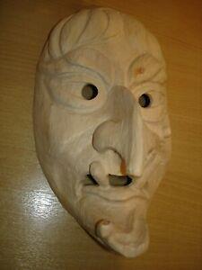 Kindermaske, Hexe,1368K Fasnet, Rohling, Holzmaske Larve,