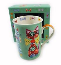 NEW Santoro Tall Mug In Gift Box Cats In Bow Ties Coffee Tea Cup Boxed