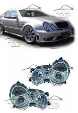 HEADLIGHTS CRISTAL CLEAR FOR MERCEDES CLK W208 97-02 NEW LAMPS FARI