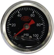SAAS LIQUID FILLED FUEL PRESSURE GAUGE 0 - 100 PSI 1/8 NPT Fuel Injected (Black)