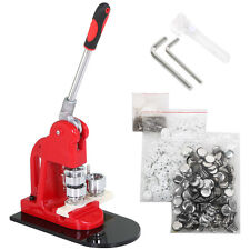 "1"" 25mm Badge Button Maker Machine Press+ 500 Parts + Circle Cutter Us Shipping"
