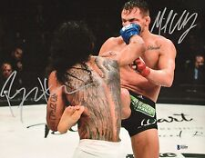 Michael Chandler Benson Henderson Signed 11x14 Photo BAS COA Bellator Picture 2