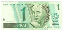 BRAZIL 1 Real XF/AU Banknote (1994) P-243e Signature 37 Series A8280 Paper Money