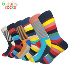 High Quality Mens Cotton Socks Lot  Fashion Multicolor Stripes Casual Male Sox
