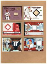 St.Louis Cardinals Game-Used Jersey/Bat Insert Card Lot of (23)! Pujols! Edmonds