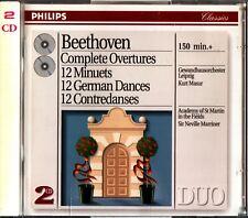 Beethoven: Complete Overtures/Minuets/Dances 2-CD -Marriner (Kurt Masur)