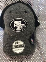 Official NFL  49ers New Era Hat *39thirty* Med-large New W/tags Gray & Black