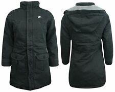 Nike Active Girls Juniors Hooded Coat Zip Up Jacket Charcoal 235949 060