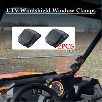 1 Pair UTV Universal Windshield Window Clamps for Polaris RZR XP Ranger Can am