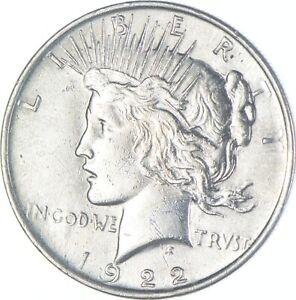 Choice AU/UNC 1922 Peace Silver Dollar - 90% Silver *042