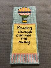 HANDMADE CROSS-STITCH CHILD'S BALLOON BOOKMARK, new