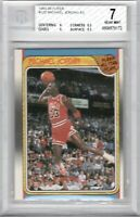 1988 Fleer #120 Micheal Jordan All-Star BGS 7 Near Mint Slam Dunk Champ Jumpman